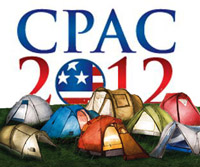 Logo showing Tents in the foreground and the words CPAC 2012 in the background